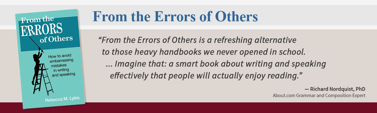From the Errors of Others Rebecca Lyles